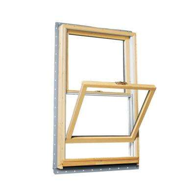 29.625 in. x 40.875 in. 400 Series Double Hung Wood Window with White Exterior