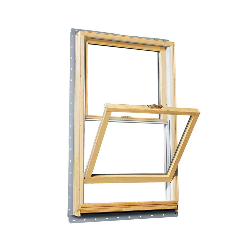 Andersen 29.625 in. x 56.875 in. 400 Series Double Hung Wood Window with White Exterior