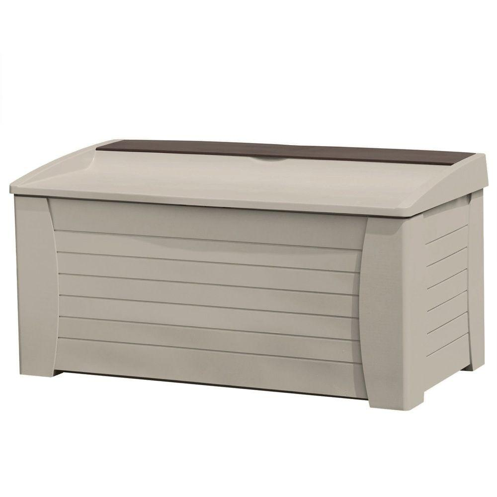 Suncast 127 Gallon Deck Box With Seat-DISCONTINUED