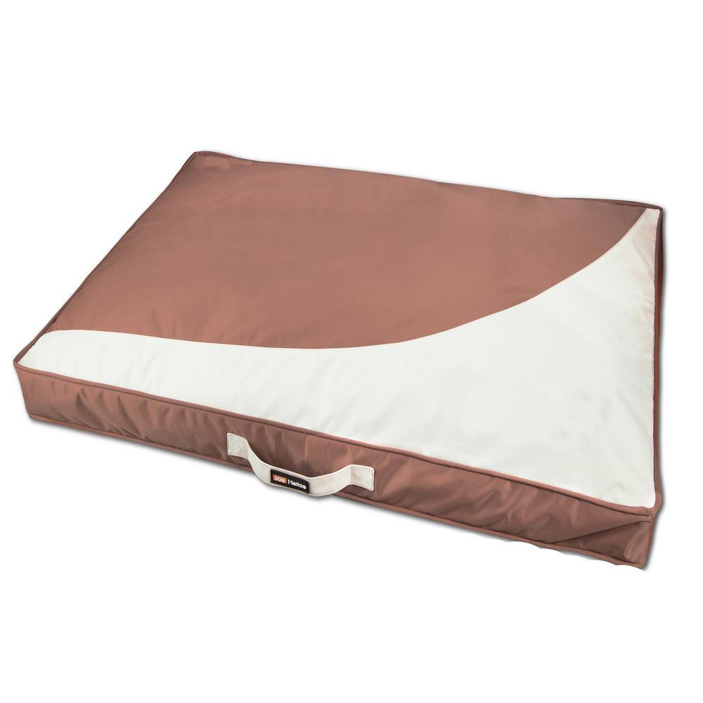 Large Brown Immortal-Trek Waterproof Rectangular Travel Dog Bed