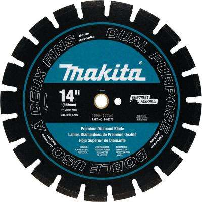 14 in. Premium Segmented Dual Purpose Diamond Blade for 14 in. Power Cutter