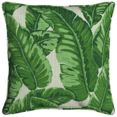Sunbrella Tropics Jungle Square Outdoor Throw Pillow (2-Pack)