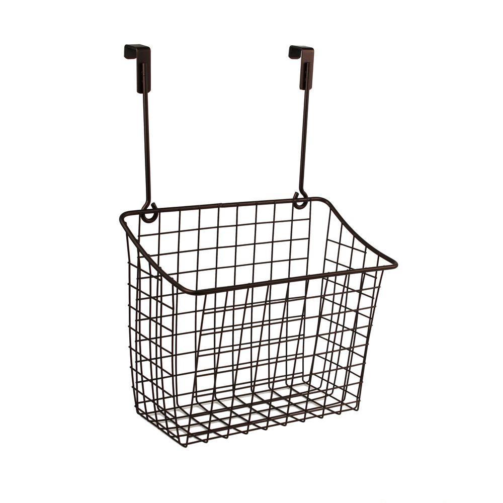 Grid 10.125 in. W x 6.625 in. D x 14 in. H Over the Cabinet Large Basket in Bronze