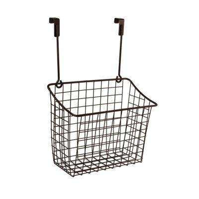 Grid 10.125 in. W x 6.625 in. D x 14 in. H Over the Cabinet Large Basket in Bronze