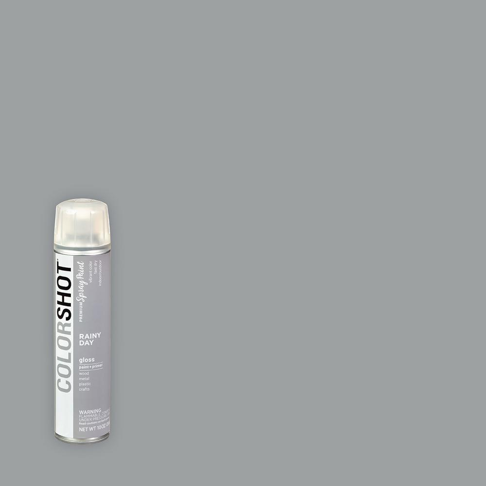 10oz Gloss Rainy Day Gray General Purpose Aerosol Spray Paint
