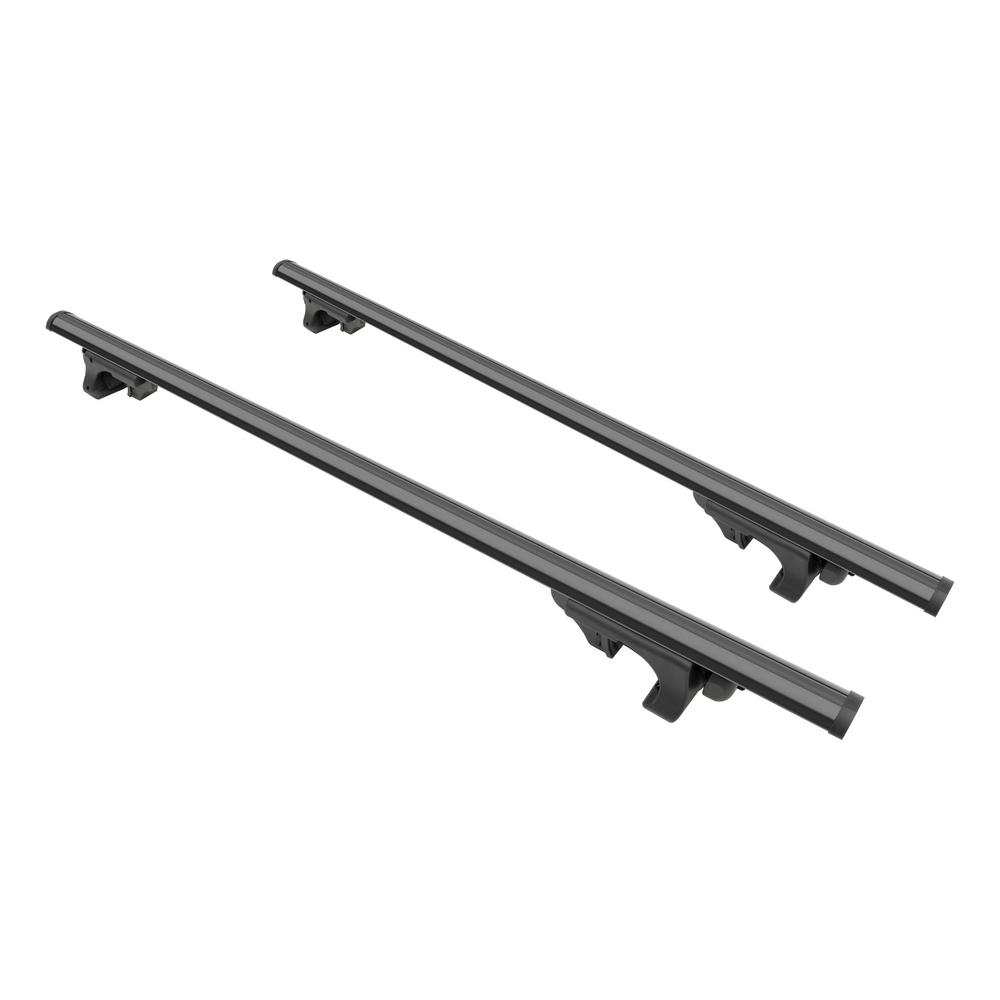 Curt 150 Lbs Capacity 53 3 8 In Black Aluminum Universal Roof Rack Cross Bars 2 Pack 18118 The Home Depot