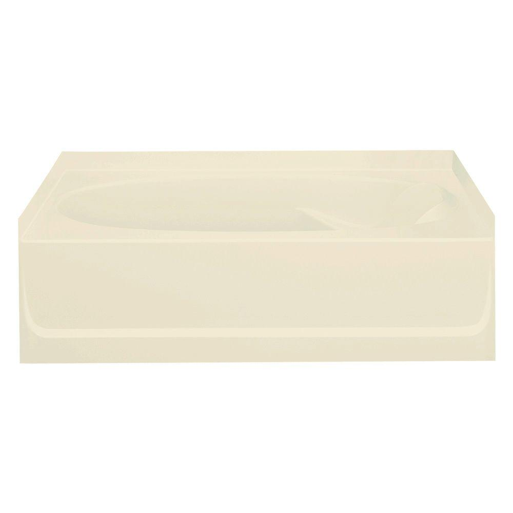 null Ensemble 5 ft. Left Drain Soaking Tub in Almond-DISCONTINUED