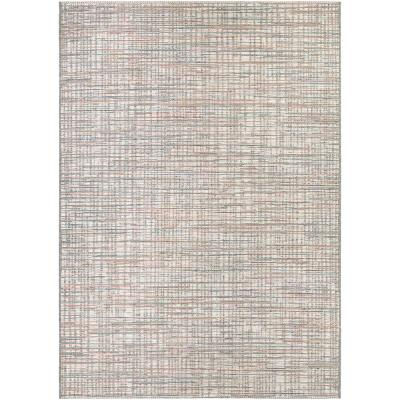 Cape Falmouth Ivory-Coral 7 ft. x 10 ft. Indoor/Outdoor Area Rug