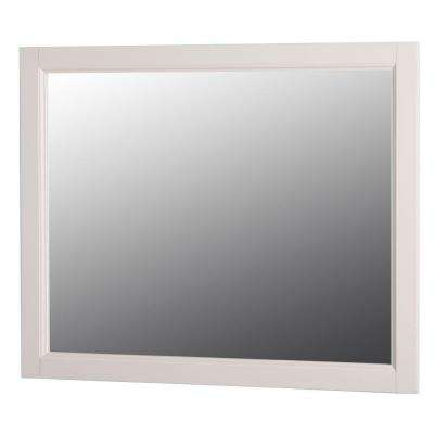 Claxby 31 in. W x 26 in. H Wall Mirror in Cream