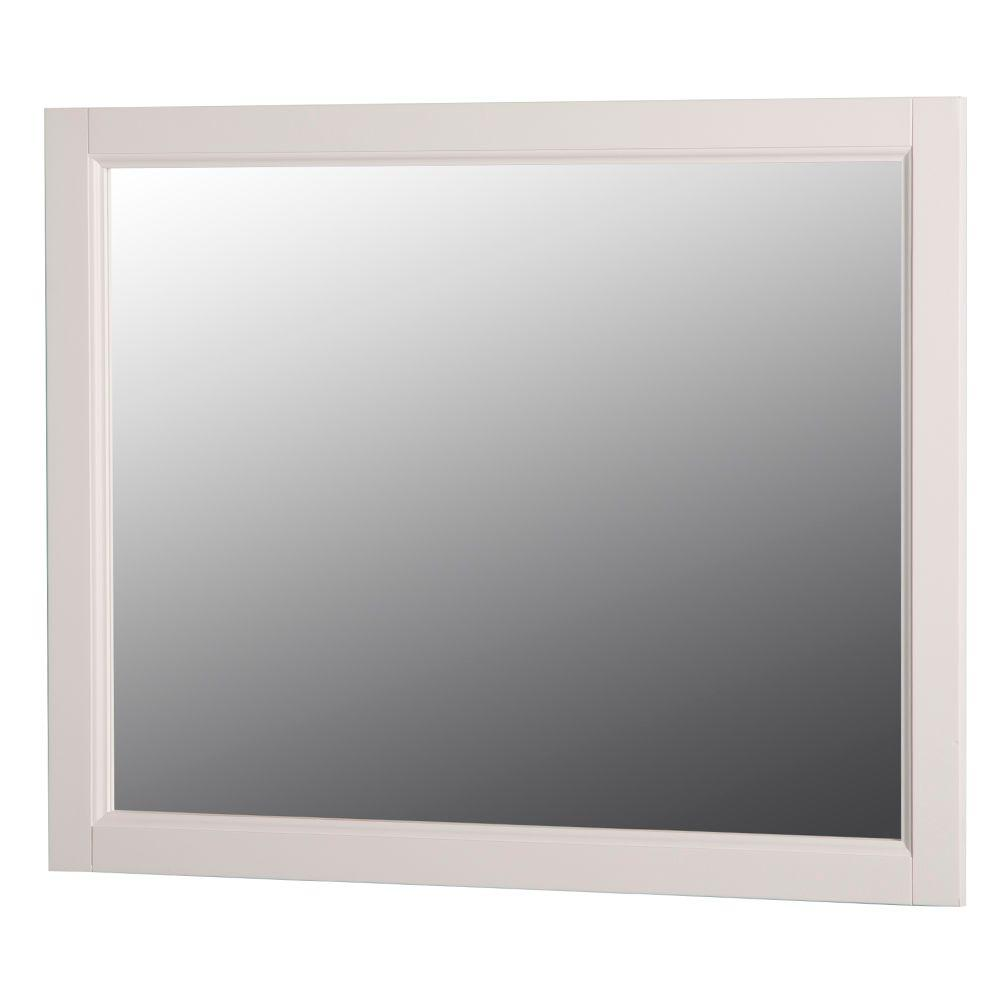 Home decorators collection claxby 31 in w x 26 in h wall mirror in cream srwm26 cr the home - Home decorators collection blinds installation image ...