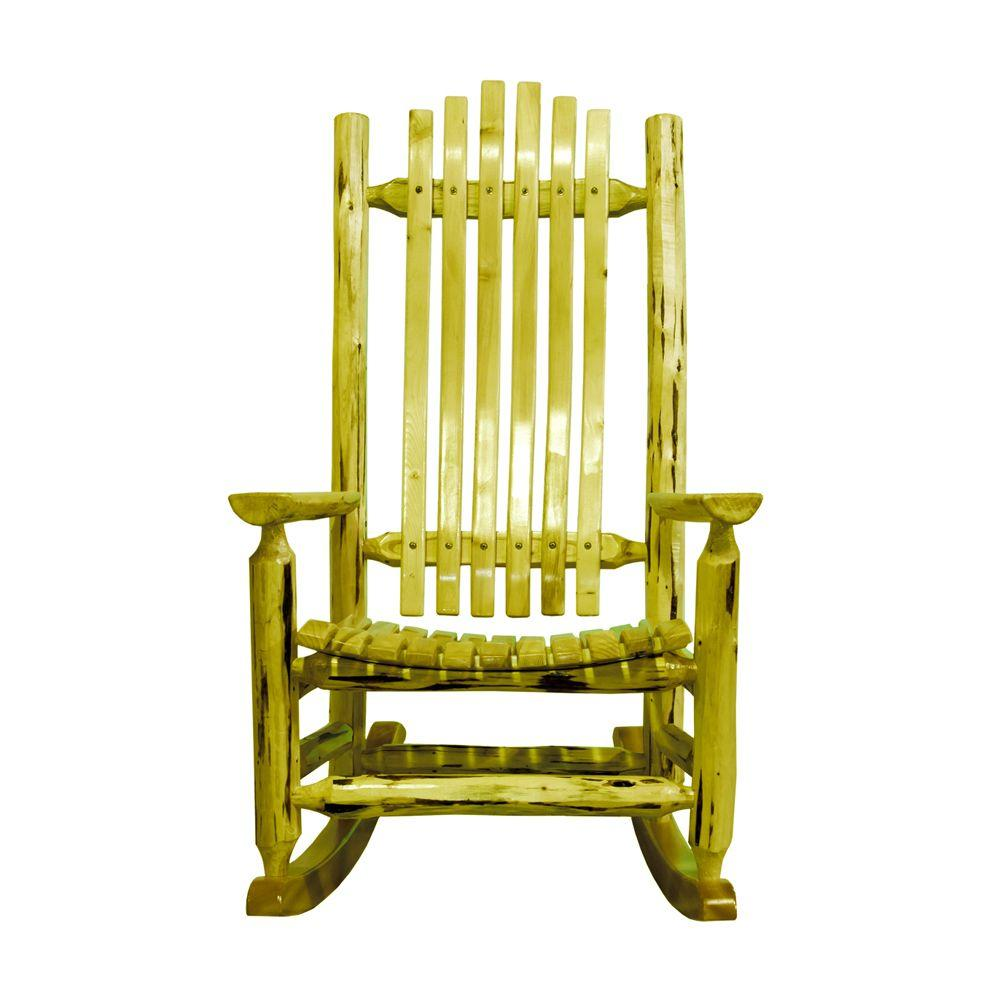 Montana Woodworks Exterior Finish Patio Log Rocker Chair