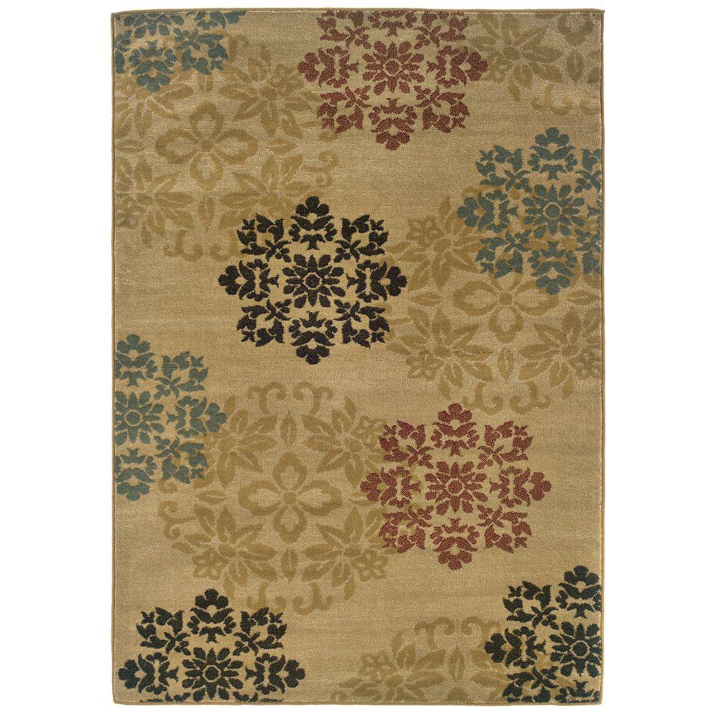 null Evanston Hancock Gold 5 ft. x 7 ft. 3 in. Area Rug