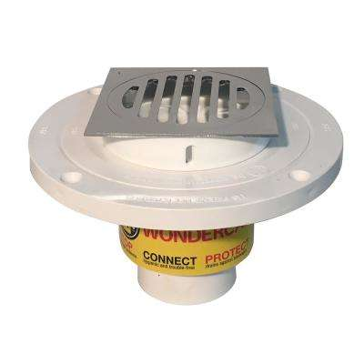 "Wondercap 2"" All-In-One Shower Drain Kit w/ Square Strainer"