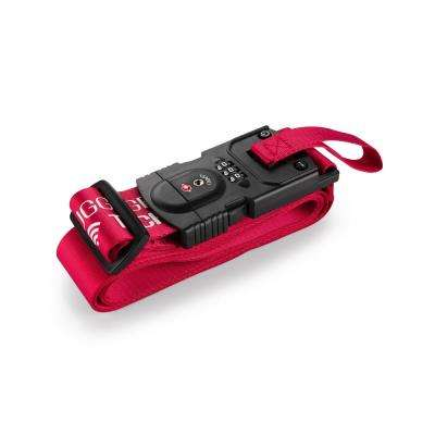 Smart Strap Red Luggage Strap