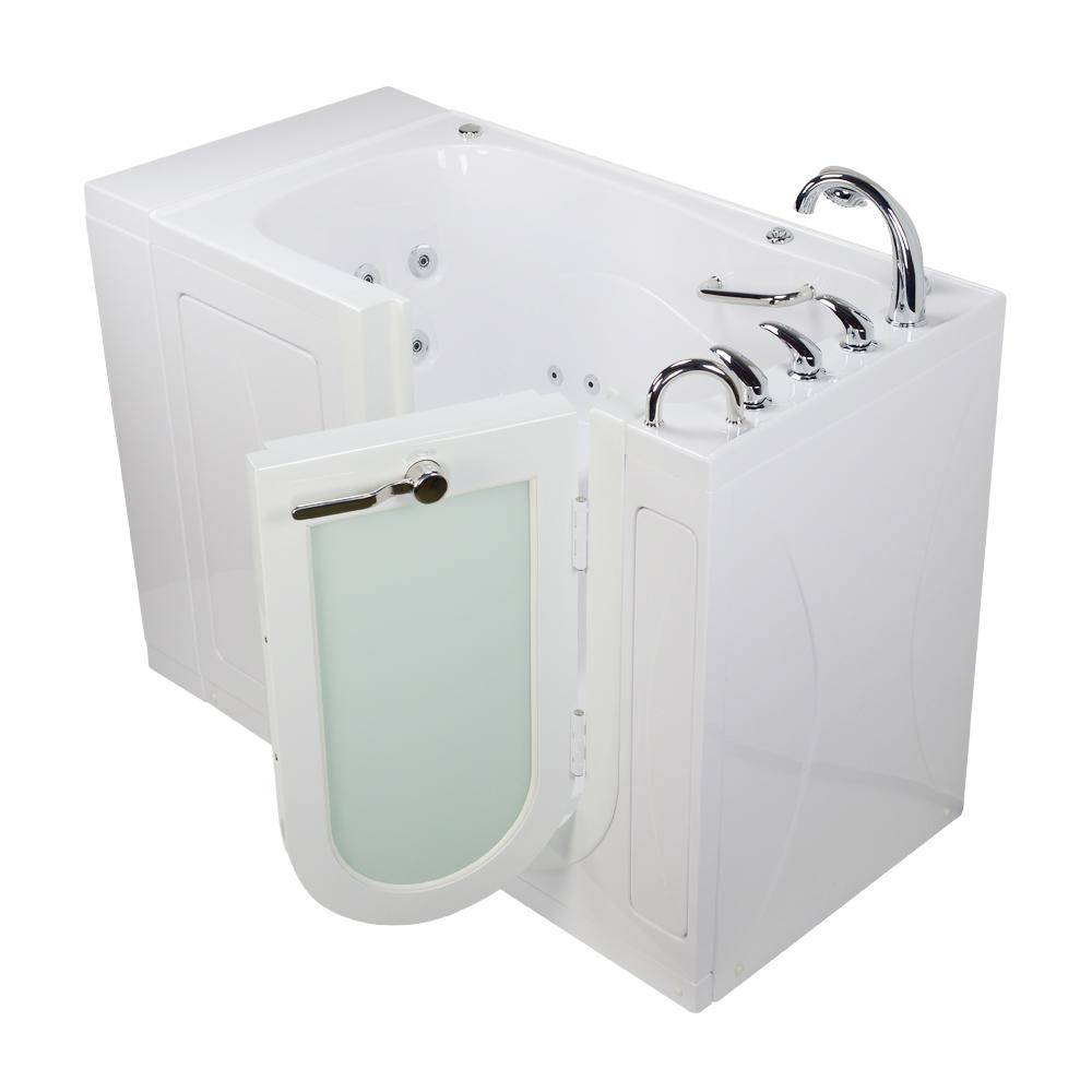 Walk In Tub With Heated Seat. Walk In Whirlpool MicroBubble Tub in White Heated Seat Ella Monaco Acrylic 52