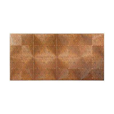 Echo 96 in. x 48 in. Decorative Wall Panel in Cracked Copper