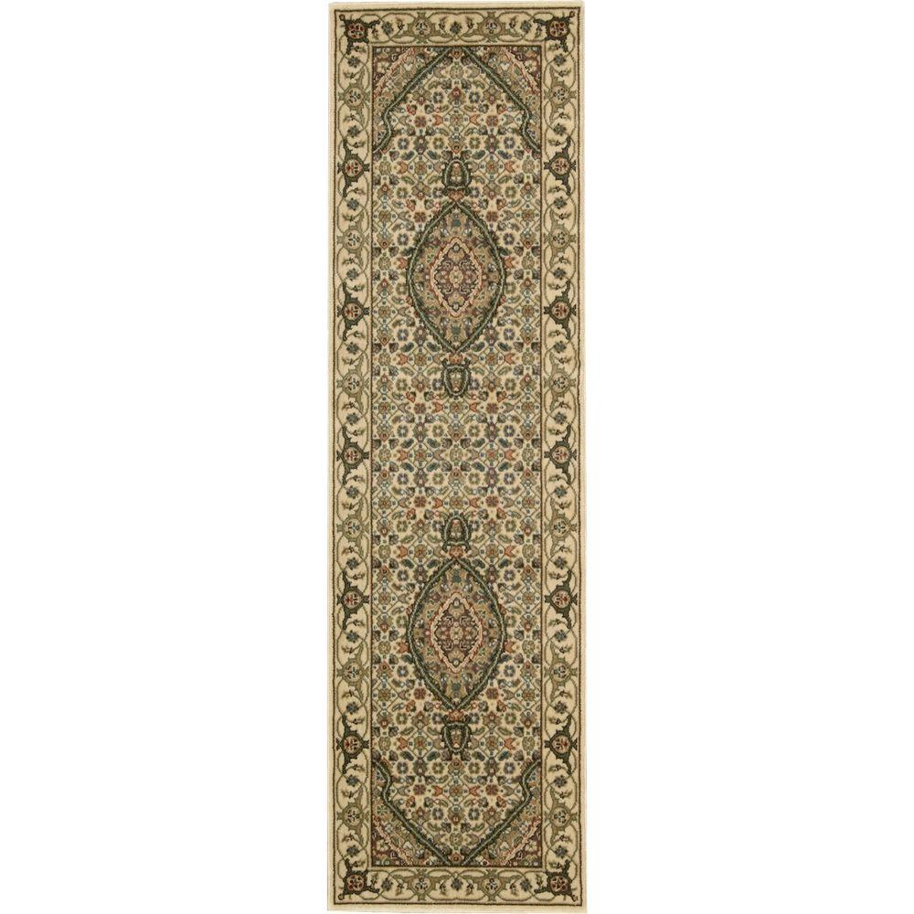 Persian Arts Ivory 2 ft. 3 in. x 12 ft. Rug