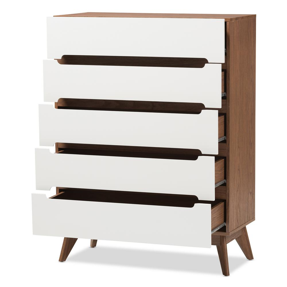 Calypso 5- Drawer White Chest