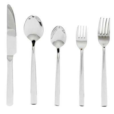 Dolores 20-Piece Cone Shape Stainless Steel Flatware Set