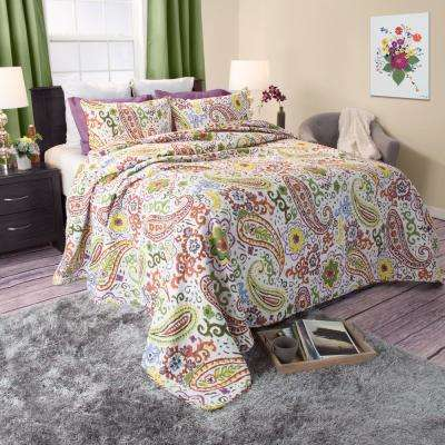 Trista Green Cotton Twin Quilt