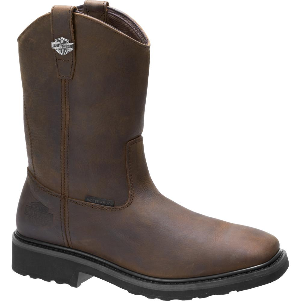 7494a7850c8 Harley-Davidson Altman Men's 11.5 Brown Full Grain Leather Waterproof Boot