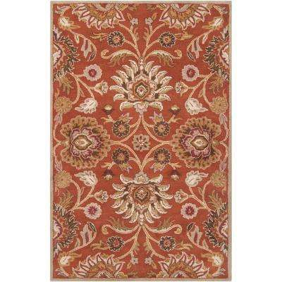 Amanda Rust Wool 9 Ft X 12 Area Rug