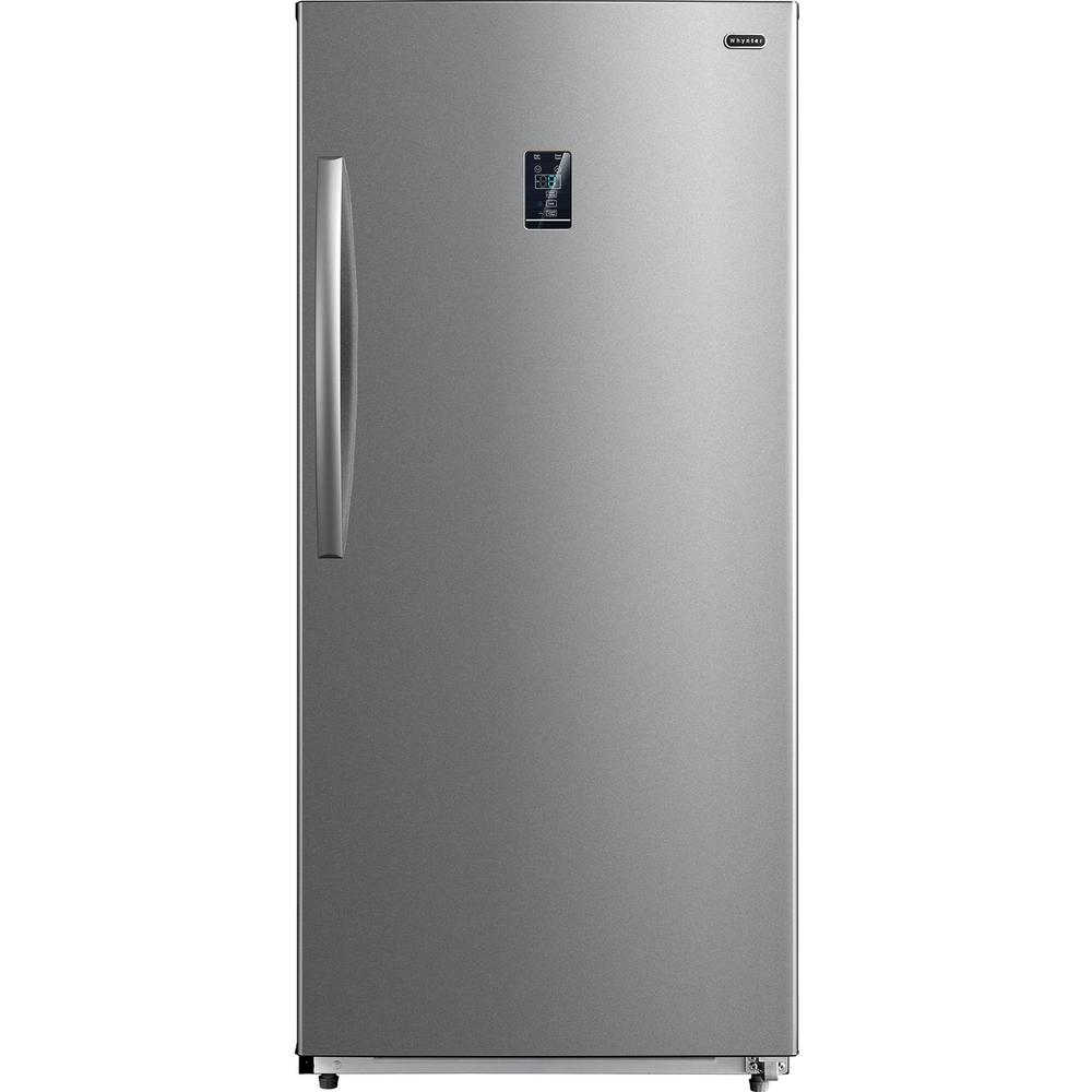 Whynter 13.8 cu. ft. Energy Star Digital Upright Convertible Deep Freezer / Refrigerator Stainless Steel Perfect for your freezing and storage requirements, the Whynter 13.8 cu. ft. Energy Star Digital Upright Convertible Deep Freezer / Refrigerator gets you the additional storage space you need with the features you desire. Its efficient design and smart insulation makes this 13.8 cu. ft. deep freezer an ENERGY STAR rated appliance to help you save on energy bills. A powerful fan-circulated cooling system allows precise airflow for efficient temperature distribution and the convenient frost-free design minimizes the need to manually defrost this upright freezer. Always looking to make our appliances just a little better, this convertible unit can be set as a refrigerator or a freezer. The Whynter UDF-139SS comes with sliding cabinets, freezer door rack shelves, and storage basket for versatility and flexibility to organize your favorite foods for quick, easy access and selection. Color: Stainless.