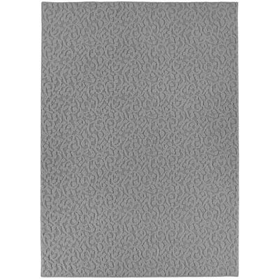 Ivy Silver 6 ft. x 9 ft. Floral Area Rug