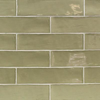 Catalina Kale 3 in. x 12 in. x 8 mm Polished Ceramic Subway Wall Tile (10.76 sq.ft./case)