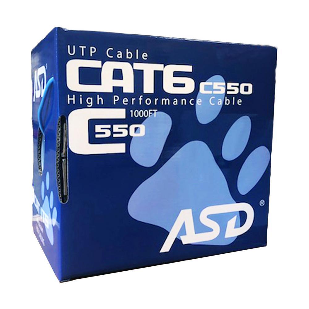 Cat6 Riser 1,000 ft. Blue 550MHz CMR Box