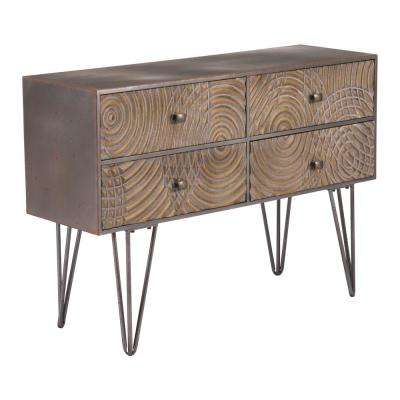 Circulos Brown Console Table