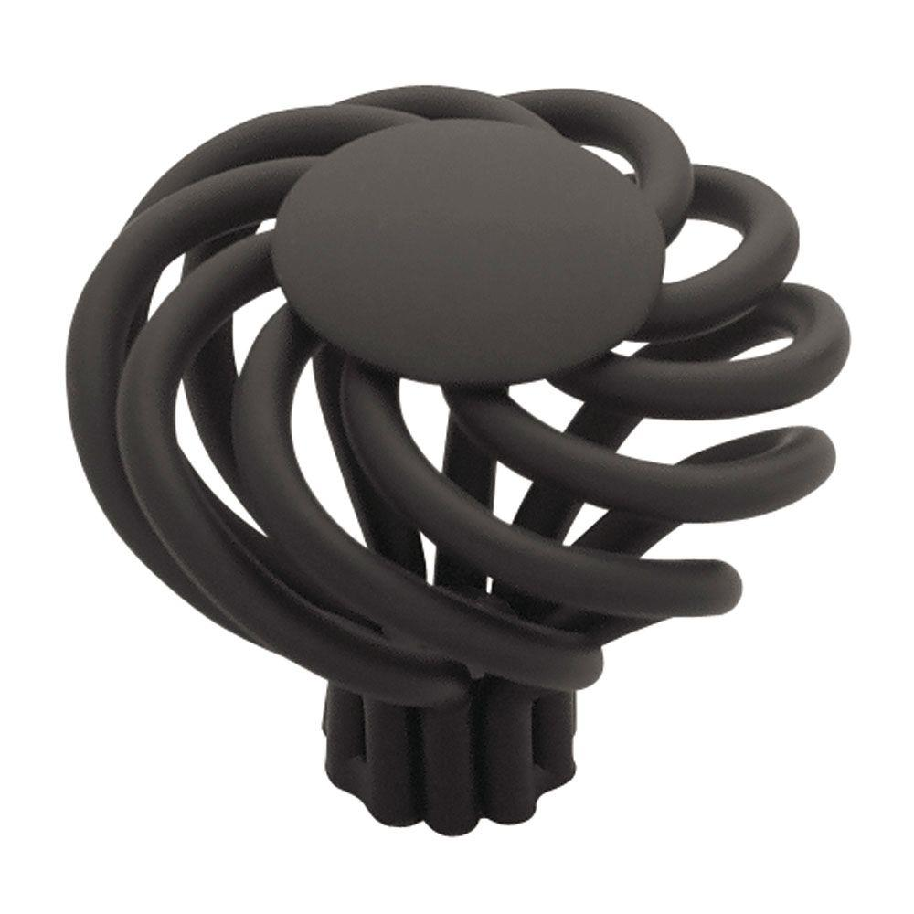 Forged Iron 1-1/2 in. Flat Black Large Wire Swirl with Flat