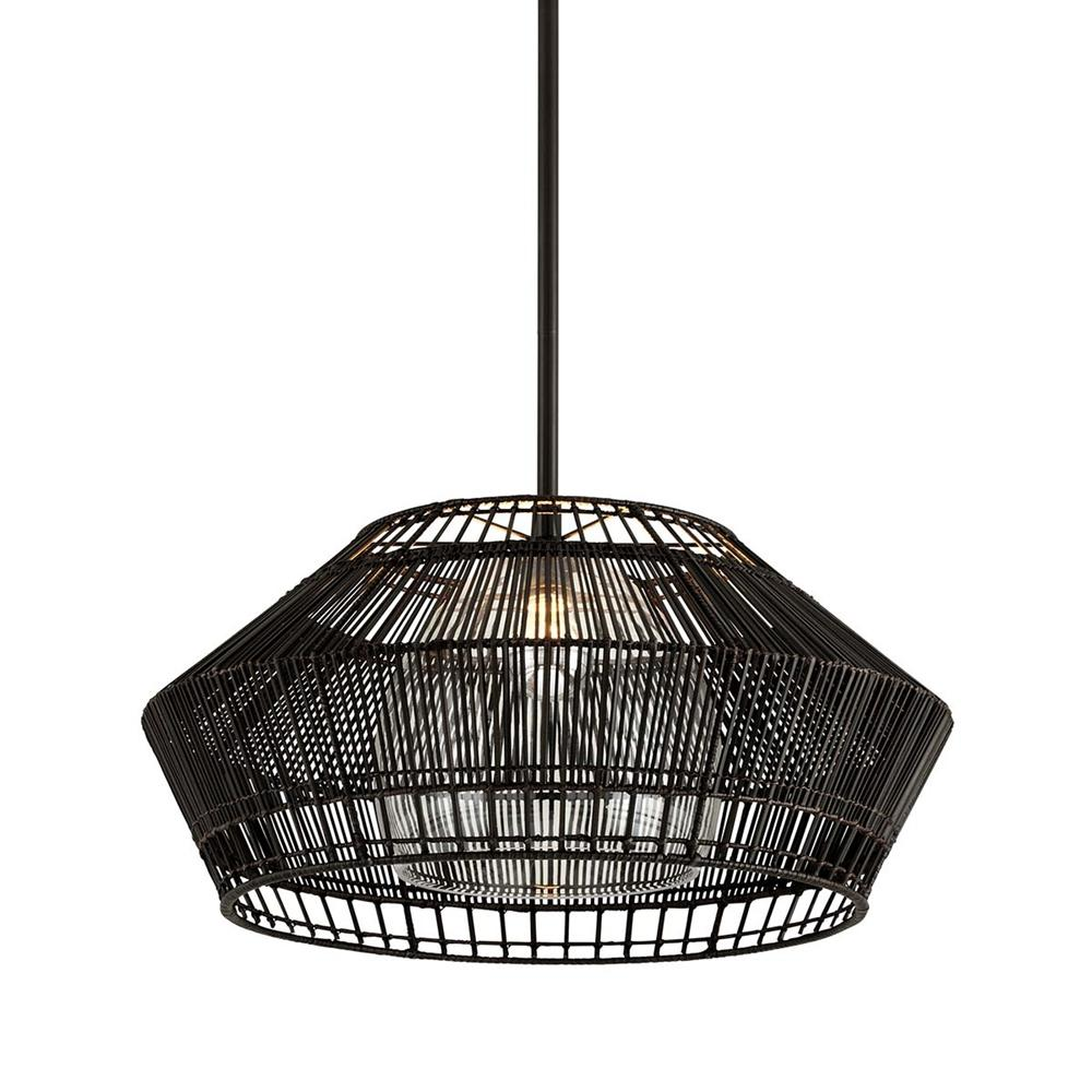 Troy Lighting Hunter Point 28 in. W 1-Light Espresso Pendant