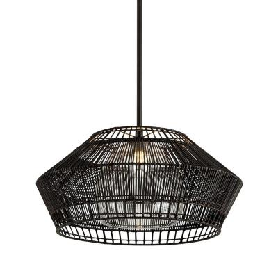 Hunter Point 28 in. W 1-Light Espresso Pendant