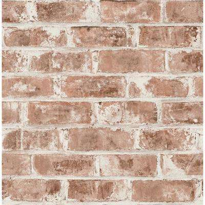 56.4 sq. ft. Jomax Red Warehouse Brick Wallpaper