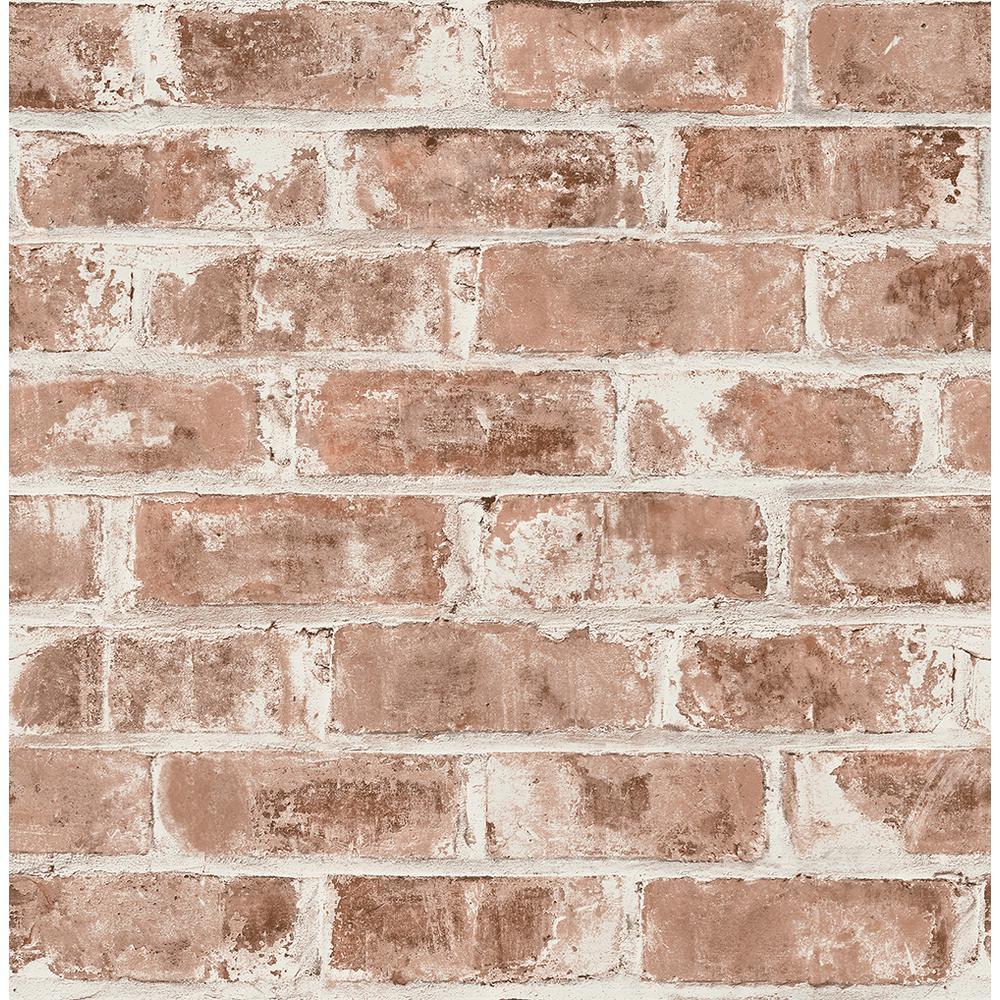 8 in. x 10 in. Jomax Red Warehouse Brick Wallpaper Sample