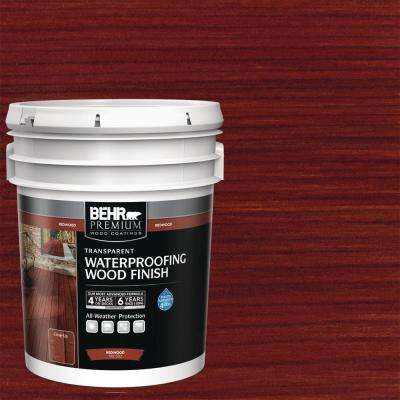 5 gal. #T-330 Redwood Transparent Waterproofing Exterior Wood Finish