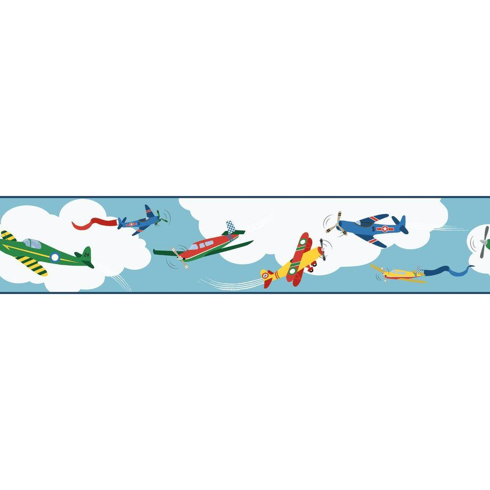York Wallcoverings Waverly Kids Cloud Cover Wallpaper Border ...