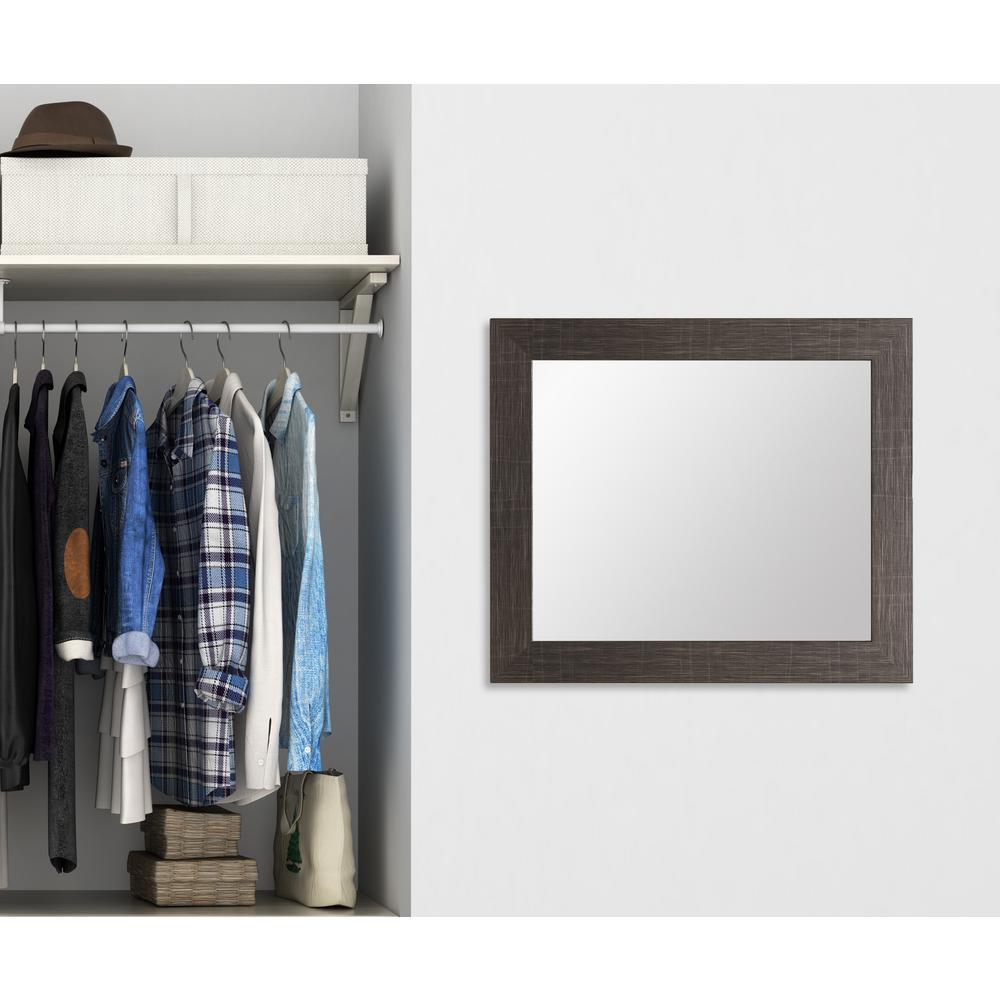 Modern Scratched Black Framed Mirror-BM005SQ - The Home Depot