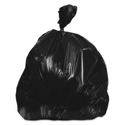 30 in. x 36 in. 30 Gal. 0.65 mil Black Linear Low-Density Trash Can Liners (250/Carton)