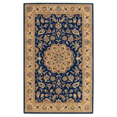 Earley Navy/Ivory 5 ft. x 8 ft. Area Rug