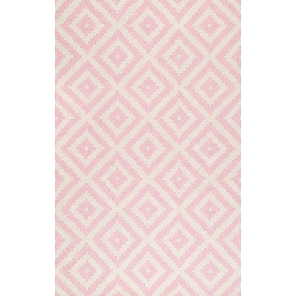 nuLOOM Kellee Light Pink 5 ft. x 8 ft. Area Rug