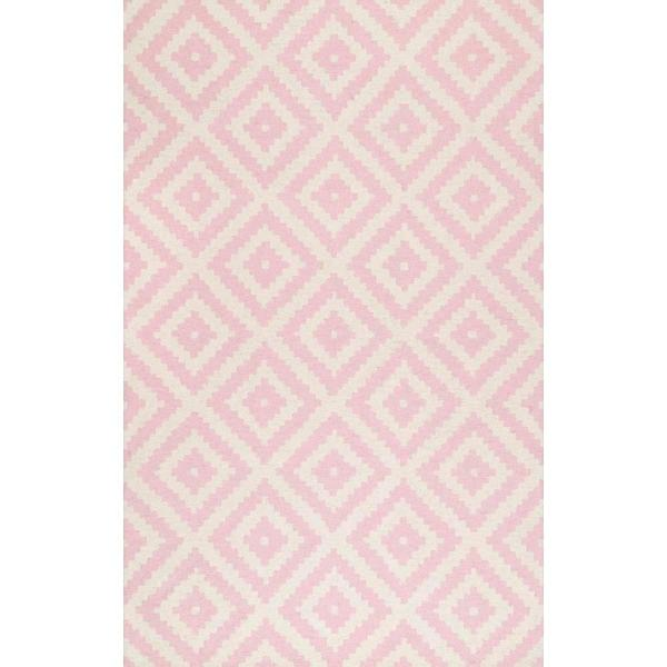 Kellee Contemporary Light Pink 8 ft. x 10 ft. Area Rug