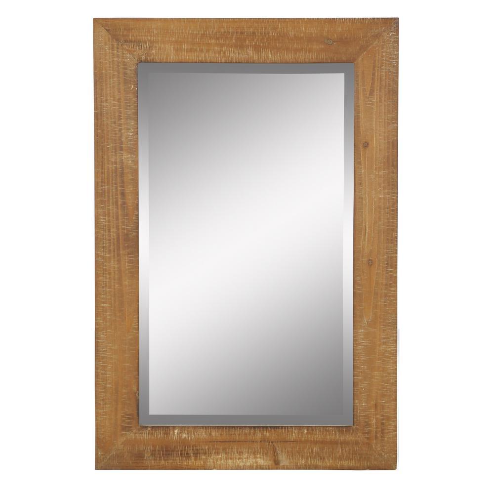 Medium Rectangle Beveled Glass Pueblo Mirror (30 in. H x 20 in. W)