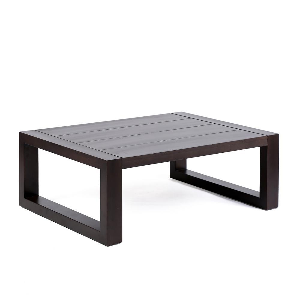 Paradise Earth Eucalyptus Wood Outdoor Patio Coffee Table