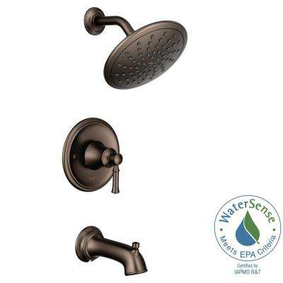 Dartmoor Posi-Temp Rain Shower 1-Handle Tub and Shower Faucet Trim Kit in Oil Rubbed Bronze (Valve Not Included)