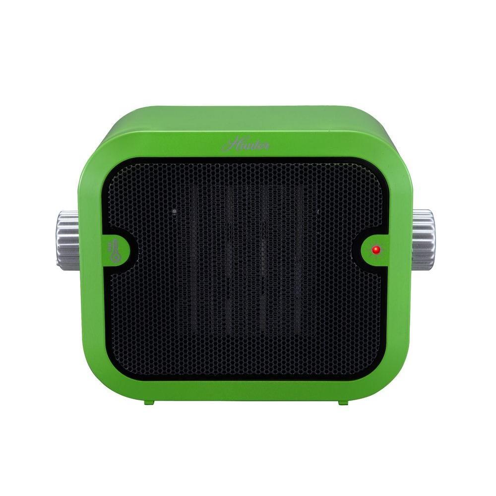 Hunter 1500-Watt Retro Ceramic Portable Heater with Adjustable Thermostat