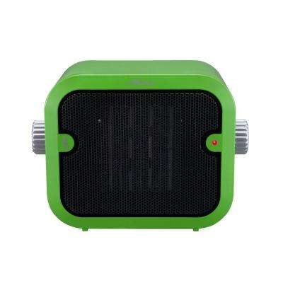 1500-Watt Retro Ceramic Portable Heater with Adjustable Thermostat