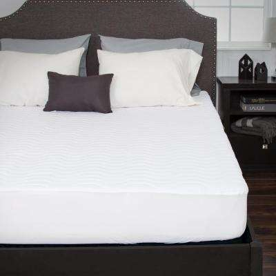 Twin 16 in. Down Alternative Mattress Pad with Fitted Skirt