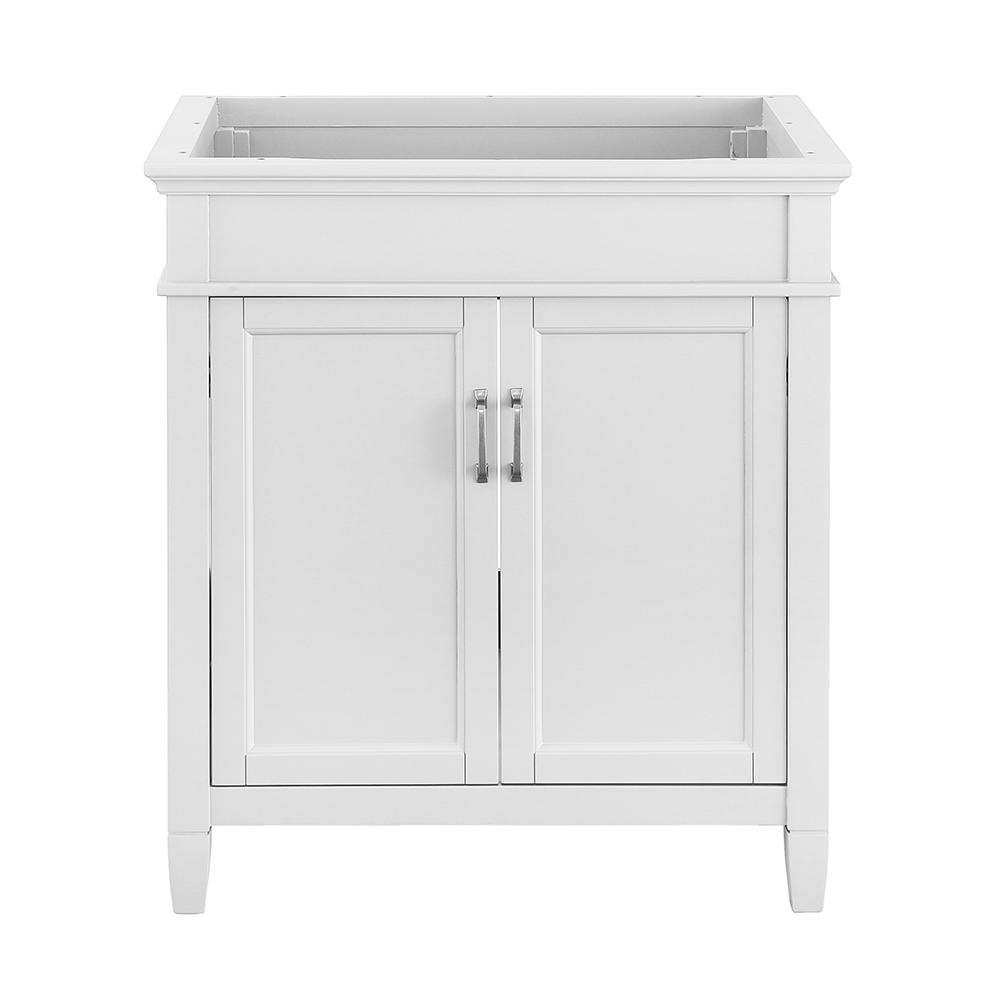 bathroom vanity without sink foremost ashburn 30 in w x 21 63 in d vanity cabinet in 17063